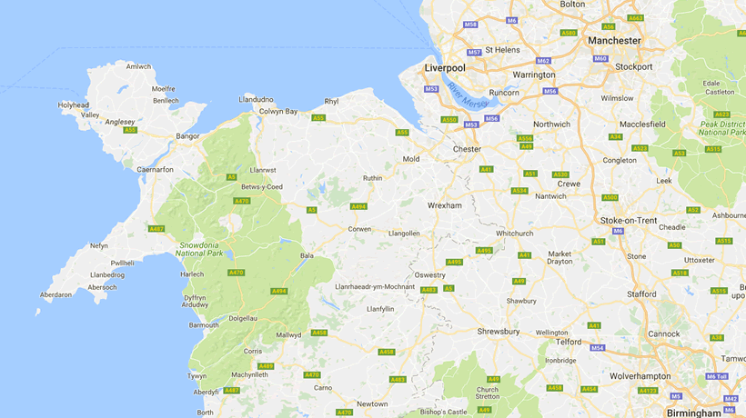 Areas we service in North Wales and the North West of the UK: